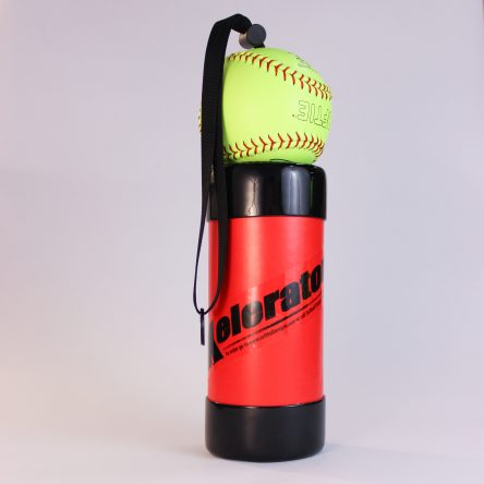 "12"" Red Xelerator with Leather Ball"